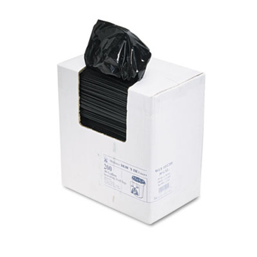 Draw 'n Tie Heavy-Duty Bags, 30gal, 1.2mil, 30 1/2 x 33, Black, 200/Box (WEB 1DT200)