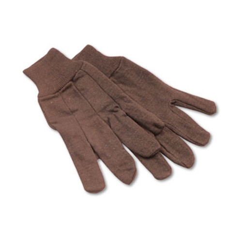 Boardwalk Jersey Knit Wrist Clute Gloves  One Size Fits Most  Brown  12 Pairs (BWK 9)