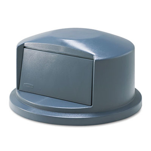 Rubbermaid Commercial BRUTE Dome Top Swing Door Lid for 32 gal Waste Containers  Plastic  Gray (RCP 2637-88 GRA)