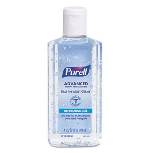 PURELL Advanced Hand Sanitizer Refreshing Gel  Clean Scent  4 oz Flip-Cap Bottle  24 Carton (GOJ 9651)