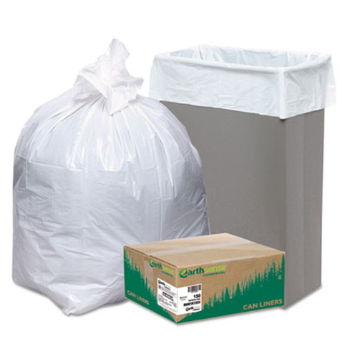 Earthsense Commercial Linear-Low-Density Recycled Tall Kitchen Bags  13 gal  0 85 mil  24  x 33   White  150 Box (WEB RNW1K150V)
