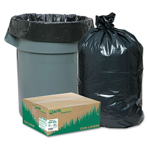 Earthsense Commercial Linear Low Density Recycled Can Liners  33 gal  1 25 mil  33  x 39   Black  100 Carton (WEB RNW4050)