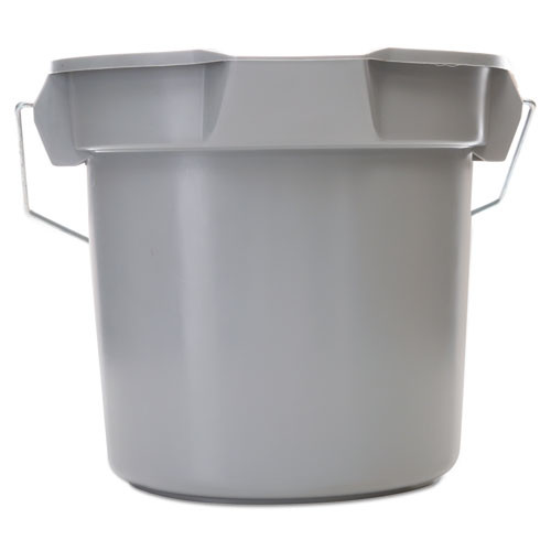 Rubbermaid Commercial 14 Quart Round Utility Bucket  12  Diameter x 11 1 4 h  Gray Plastic (RCP 2614 GRA)