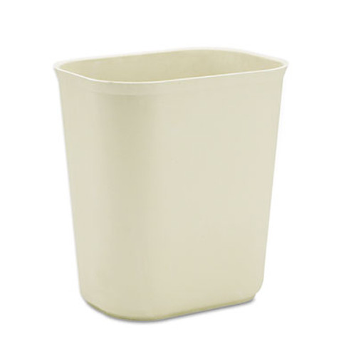 Rubbermaid Commercial Fire-Resistant Wastebasket, Rectangular, Fiberglass, 3.5gal, Beige (RCP 2541 BEI)
