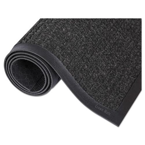 Crown Super-Soaker Wiper Mat with Gripper Bottom  Polypropylene  36 x 60  Charcoal (CRO SSR035 CHA)