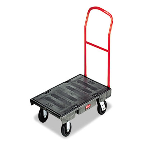 Rubbermaid Commercial Heavy-Duty Platform Truck Cart  2 000 lb Capacity  24 x 48 Platform  Black (RCP 4436 BLA)
