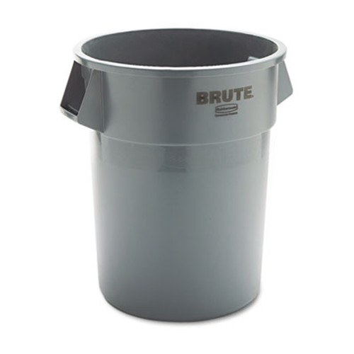 Rubbermaid Commercial Round Brute Container  Plastic  55 gal  Gray (RCP 2655 GRA)