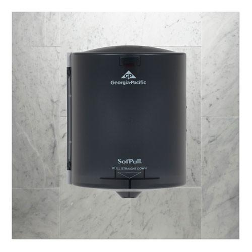 Georgia Pacific Professional Center Pull Hand Towel Dispenser  9 1 4w x 8 3 4d x 11 1 2h  Smoke (GPC 582-04)
