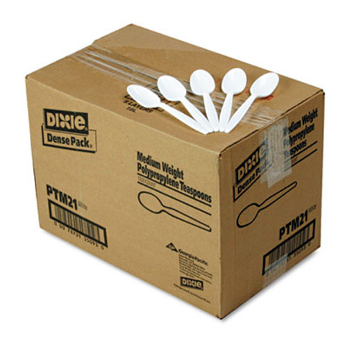 Dixie Plastic Cutlery Heavyweight Teaspoons Black 1000//Carton TH517