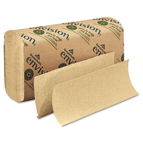 Georgia Pacific Professional Pacific Blue Basic M-Fold Paper Towels  9 2 x 9 4  Brown  250 Pack  16 Packs Carton (GPC 233-04)