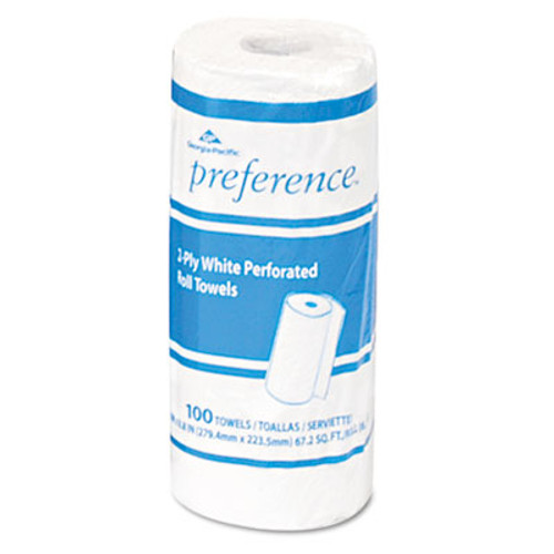 Georgia Pacific Professional Perforated Paper Towel, 8 4/5 x 11, White, 100/Roll, 30 Rolls/Carton (GPC 273)