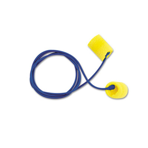 3M EA  AA  R Classic Earplugs  Corded  PVC Foam  Yellow  200 Pairs (MMM3111101)