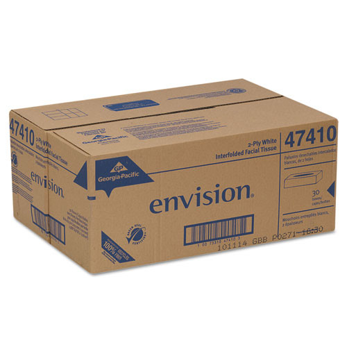 Georgia Pacific Professional Facial Tissue  2-Ply  White  100 Sheets Box  30 Boxes Carton (GPC 474-10)