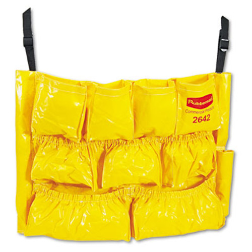Rubbermaid Commercial Brute Caddy Bag  12 Pockets  Yellow (RCP 2642 YEL)