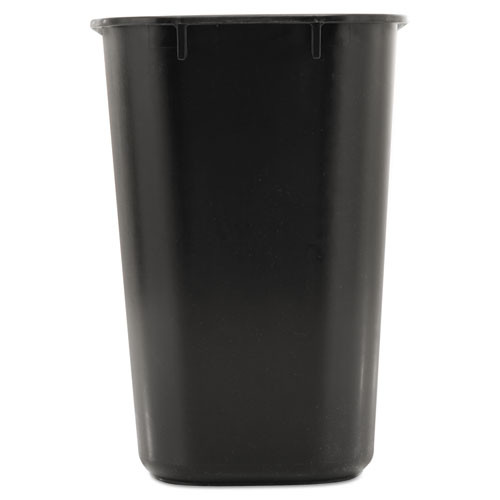 Rubbermaid Commercial Deskside Plastic Wastebasket  Rectangular  3 5 gal  Black (RCP 2955 BLA)