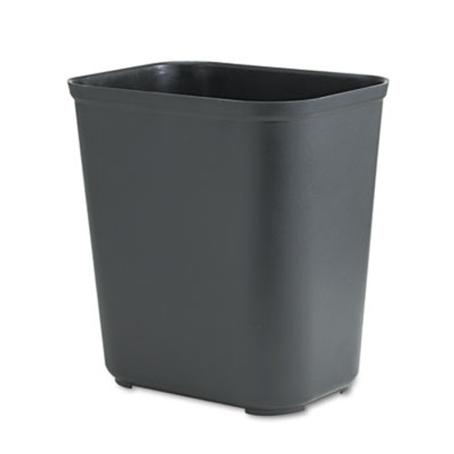 Rubbermaid Commercial Fire-Resistant Wastebasket  Rectangular  Fiberglass  7 gal  Black (RCP 2543 BLA)