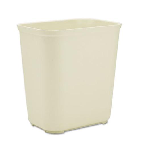 Rubbermaid Commercial Fire-Resistant Wastebasket  Rectangular  Fiberglass  7 gal  Beige (RCP 2543 BEI)