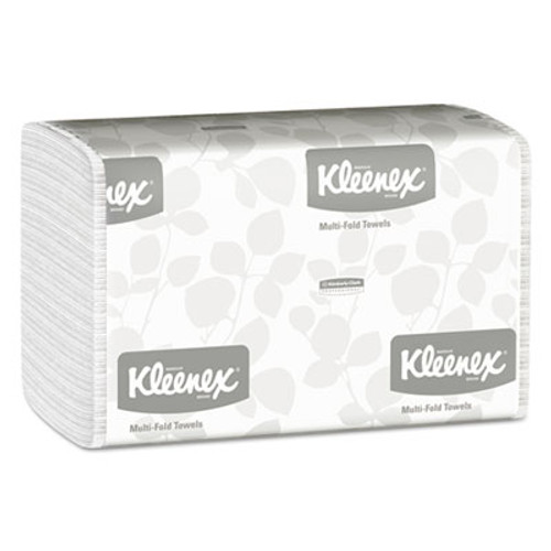 Kleenex Multi-Fold Paper Towels  9 1 5 x 9 2 5  White  150 Pack  16 Packs Carton (KCC 01890)