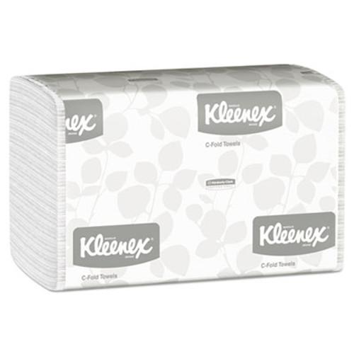 Kleenex C-Fold Paper Towels, 10 1/8 x 13 3/20, White, 150/Pack, 16 Packs/Carton (KCC 01500)