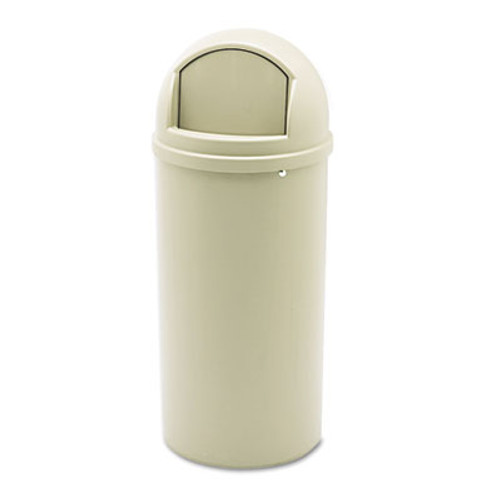 Rubbermaid Commercial Marshal Classic Container  Round  Polyethylene  15 gal  Beige (RCP 8160-88 BEI)