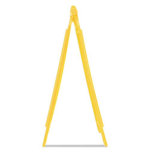 Rubbermaid Commercial Multilingual  Caution  Floor Sign  Plastic  11 x 12 x 25  Bright Yellow (RCP 6112 YEL)