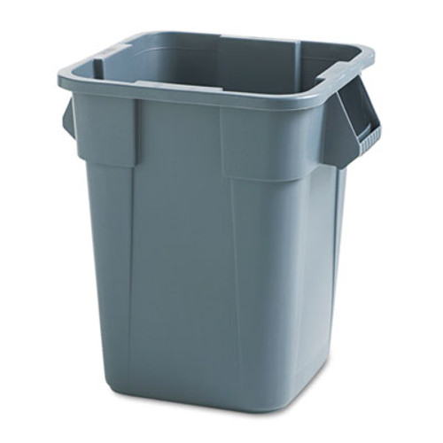 Rubbermaid Commercial Brute Container, Square, Polyethylene, 40gal, Gray (RCP 3536 GRA)