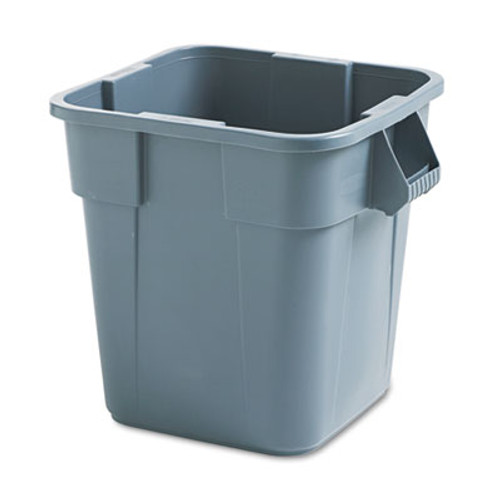 Rubbermaid Commercial Brute Container, Square, Polyethylene, 28gal, Gray (RCP 3526 GRA)