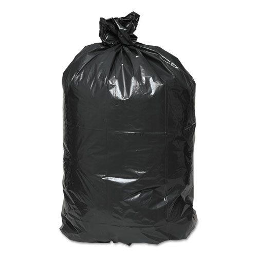 Earthsense Commercial Linear Low Density Recycled Can Liners  45 gal  1 25 mil  40  x 46   Black  100 Carton (WEB RNW4850)