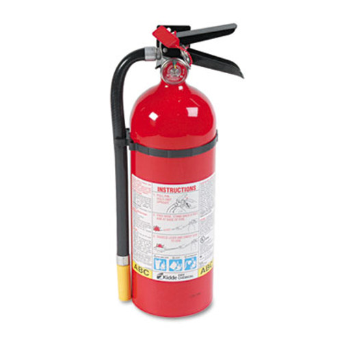 Kidde ProLine Pro 5 MP Fire Extinguisher, 3 A, 40 B:C, 195psi, 16.07h x 4.5 dia, 5lb (KDD 466112)