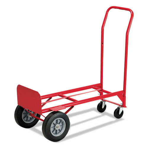 Safco Two-Way Convertible Hand Truck  500-600 lb Capacity  18w x 51h  Red (SFC 4086R)