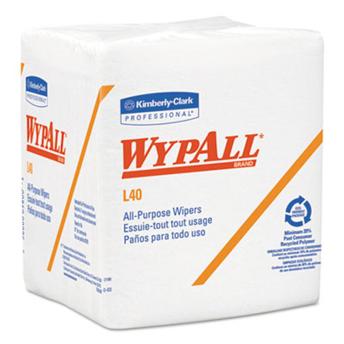 WypAll L40 Towels  1 4 Fold  White  12 1 2 x 12  56 Box  18 Packs Carton (KCC 05701)