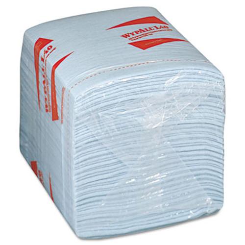 WypAll L40 Wiper  1 4 Fold  Blue  12 1 2 x 12  56 Box  12 Boxes Carton (KCC 05776)
