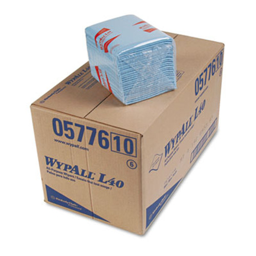 WypAll L40 Wiper  1 4 Fold  Blue  12 1 2 x 12  56 Box  12 Boxes Carton (KCC 05776)