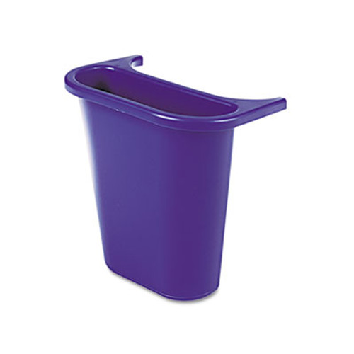 Rubbermaid Commercial Wastebasket Recycling Side Bin  Attaches Inside or Outside  4 75 qt  Blue (RCP 2950-73 BLU)