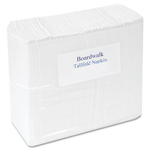 "Boardwalk Tallfold Dispenser Napkin, 12"" x 7"", White, 250/Pack, 40 Packs/Carton (BWK 8302)"