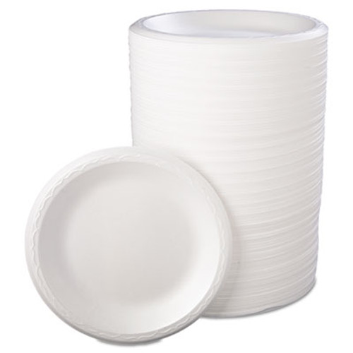 Genpak Foam Dinnerware  Plate  8 7 8  dia  White  125 Pack  4 Packs Carton (GNP 80900)