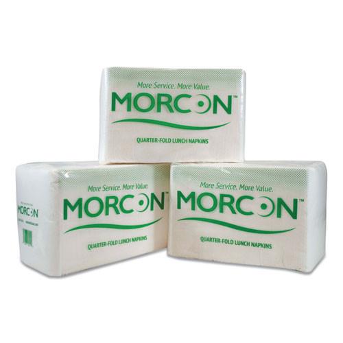 Morcon Tissue Morsoft 1 4 Fold Lunch Napkins  1 Ply  11 5  x 11 5   White  6 000 Carton (MOR 1250)