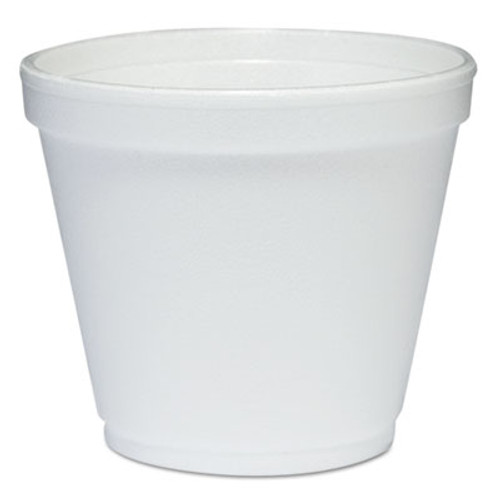 Dart Food Containers, Foam, 8oz, White, 1000/Carton (DCC 8SJ12)