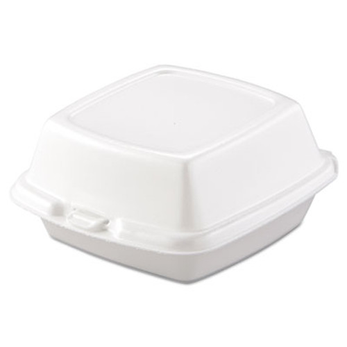 Dart Carryout Food Containers  Foam  1-Comp  5 7 8 x 6 x 3  White  500 Carton (DCC 60HT1)