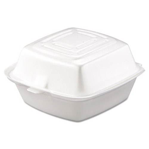Dart Carryout Food Container  Foam  1-Comp  5 1 2 x 5 3 8 x 2 7 8  White  500 Carton (DCC 50HT1)