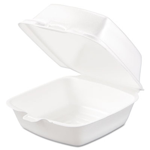 Dart Carryout Food Container, Foam, 1-Comp, 5 1/2 x 5 3/8 x 2 7/8, White, 500/Carton (DCC 50HT1)
