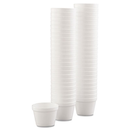 Dart Bowl Containers, Foam, 4oz, White, 1000/Carton (DCC 4J6)