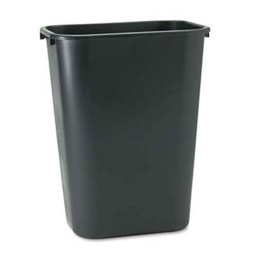 Rubbermaid Commercial Deskside Plastic Wastebasket, Rectangular, 10 1/4 gal, Black (RCP 2957 BLA)