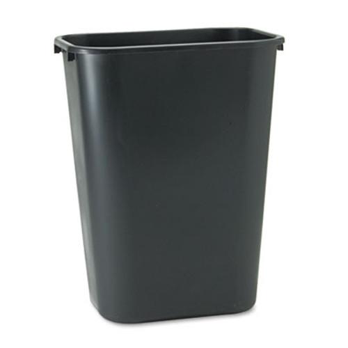 Rubbermaid Commercial Deskside Plastic Wastebasket  Rectangular  10 25 gal  Black (RCP 2957 BLA)