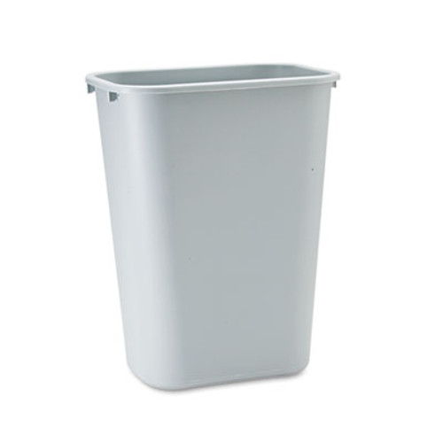 Rubbermaid Commercial Deskside Plastic Wastebasket, Rectangular, 10 1/4 gal, Gray (RCP 2957 GRA)