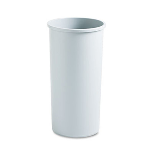 Rubbermaid Commercial Untouchable Waste Container, Round, Plastic, 22gal, Gray (RCP 3546 GRA)