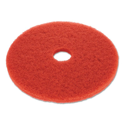 Boardwalk Buffing Floor Pads  19  Diameter  Red  5 Carton (PAD 4019 RED)