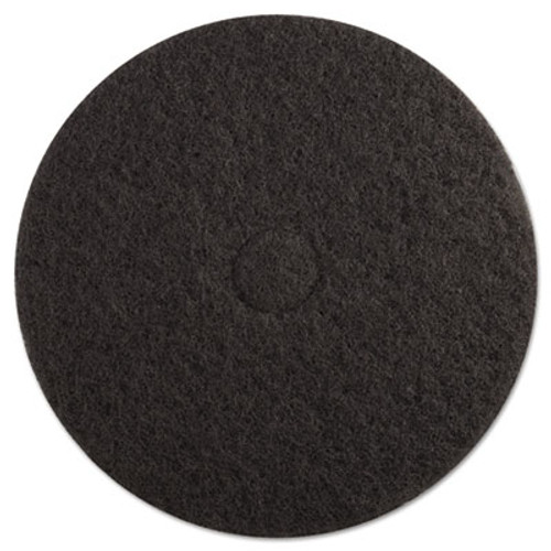 Boardwalk Stripping Floor Pads  19  Diameter  Black  5 Carton (PAD 4019 BLA)