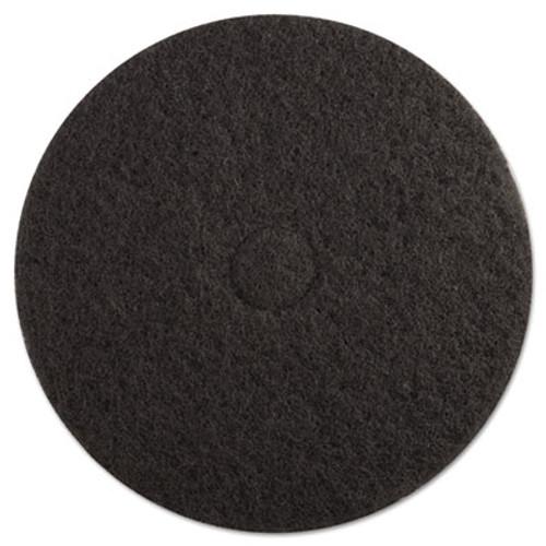 Boardwalk Stripping Floor Pads  19  Diameter  Black  5 Carton (PAD 4019 BLA)