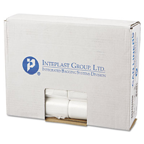 Inteplast Group Commercial Can Liners, Perforated Roll, 10gal, 24 x 24, Natural, 1000/Carton (IBS EC242406N)